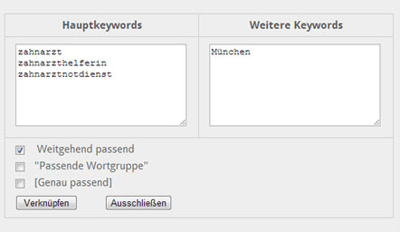 Keyword Vorschläge