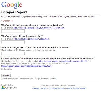 Google Scraper Form